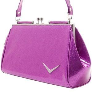 Lux DeVille Getaway kisslock sparkle hand bag